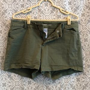 Army Green Old Navy Pixie Shorts